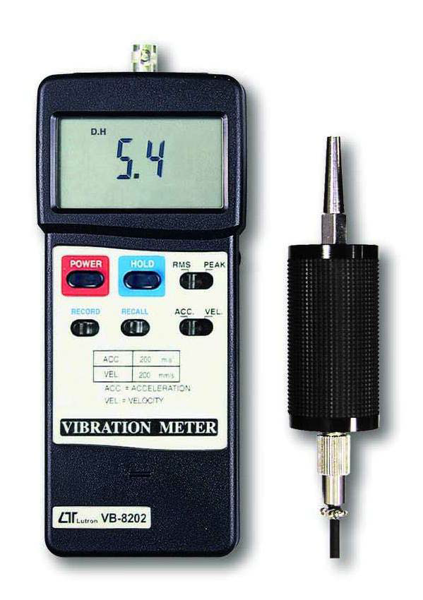 Vibration meter with separate probe handle and magnetic base
