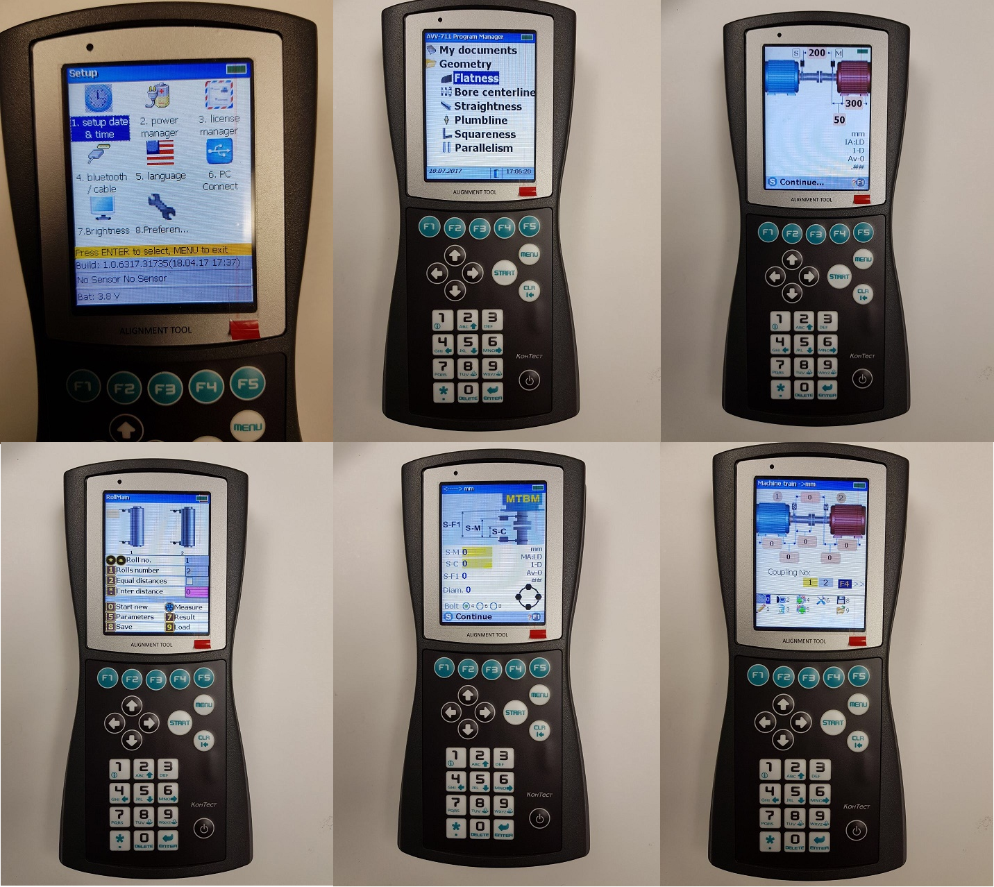 AV 711 Various Screens