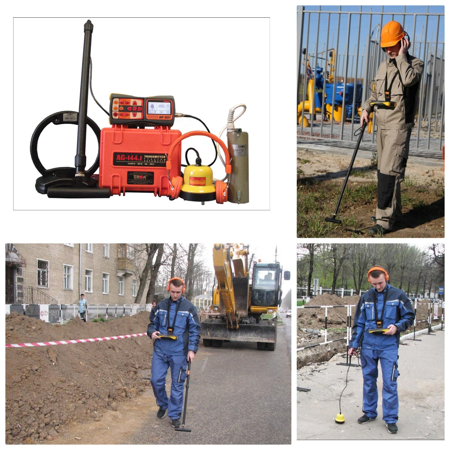 Success TPT 522 Water Leak Locator Cable and Pipe Locator 3 in 1 collage
